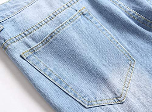 VOEERON Men's Distressed Ripped Jeans, Relaxed Slim Regular Straight Fit Denim Pants    ImportedZipper closureMachine WashTrendy ripped distressed design, let you have a high-end fashion lookSoft cotton material comfortable and skin friendly breathable and durableSlim straight leg classic fit 5 pockets design more styling ideas