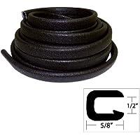 TACO METALS V30-1316B25-1 / TACO Flexible Vinyl Trim - ½ Opening x ⅝W x 25L - Black
