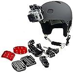 Micros2u-montaggio-anteriore-set-laterale-per-montare-una-GoPro-sul-casco-include-fibbia-con-gancio-J-fibbia-a-sgancio-rapido-cuscinetti-adesivi-3M-per-GoPro-Hero-6-5-4-3-2-per-Session-Action-Camera-S