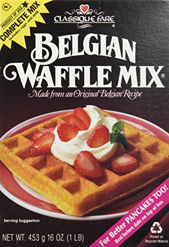 Classique Fare Mix Waffle Belgian (Pack of 6)