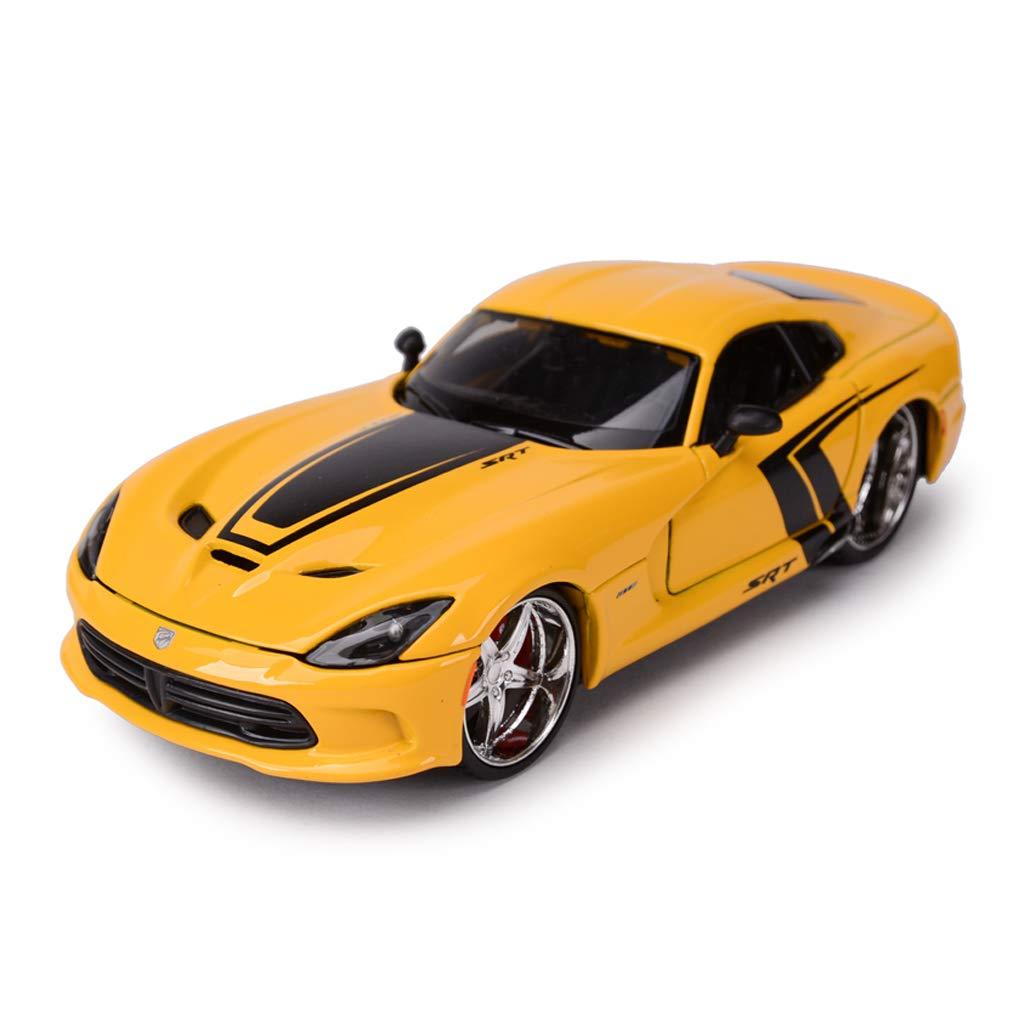 entrega gratis IVNGRI-Modelo de Auto Auto Auto Modelo De Auto Fundido A Troquel 1 24 Dodge Viper Modelo Altamente Moldeado A Presión, Amarillo  gran descuento