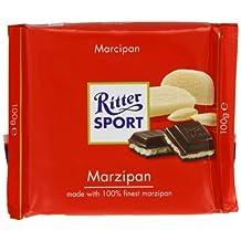 Ritter Sport Marzipan Chocolate Bar 100 g (Pack of 5)