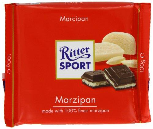 Ritter Sport Marzipan - Ritter Sport Marzipan Chocolate Bar 100 g (Pack of 5)