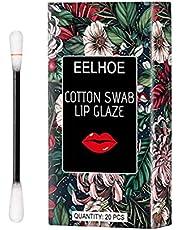 YIPUTONG Waadstaafjes lippenstift 20 stuks/karton wegwerp lippenstift vrouwen anti-aanbaklaag duurzaam vloeibare lipgloss, draagbare creatieve niet-vervagende lippenstift