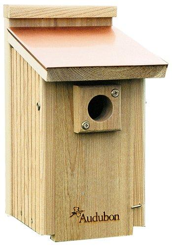 Audubon Coppertop Cedar Wood Bluebird House Model NACOPBB