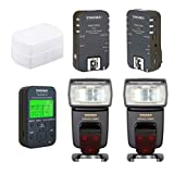 Flash Kit for Nikon: 2 TTL Flashes YN-568 EX , Controller YN622N-TX, Trigger YN-622N II, Diffuser