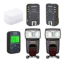 Flash Kit for Nikon: 2 TTL Flashes YN-568 EX , Controller YN622N-TX, Trigger YN-622N II, Diffuser