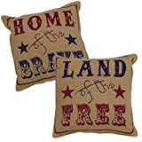 Heart of America Land Of The Free Pillows - Set of 2