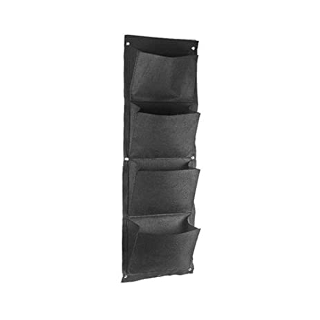 Amgate Gardens 4 Pocket Vertical Wall Garden Planter Wall Mounted Plant ¡