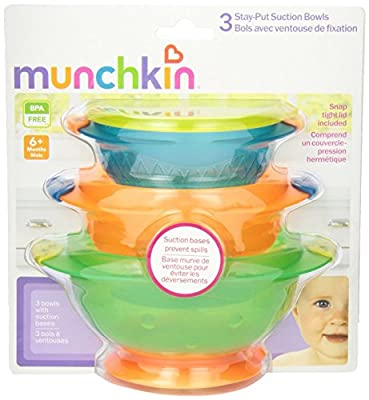 Munchkin Stay Put Suction Bowl, 3 Count (2pk) from Munchkin