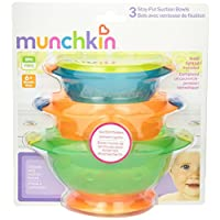 Munchkin Stay Put Suction Bowl, 3 Count (2pk)