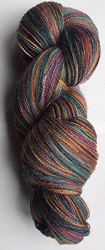 Teal Alpaca Yarn (Artisan Yarns Hand Dyed Alpaca Silk Yarn, Hand Painted Royal, Lace Weight, 100 Grams, 875 Yards, 70/30 Baby Alpaca / Mulberry Silk)