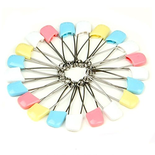UZZO Cloth Diaper Pins Stainless Steel Traditional Safety Pin (100PCS) by UZZO