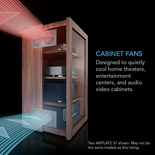 """AC Infinity AIRPLATE S3, Quiet Cooling Fan System 6"""" With"""