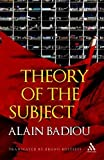 By Alain Badiou Theory of the Subject [Hardcover]