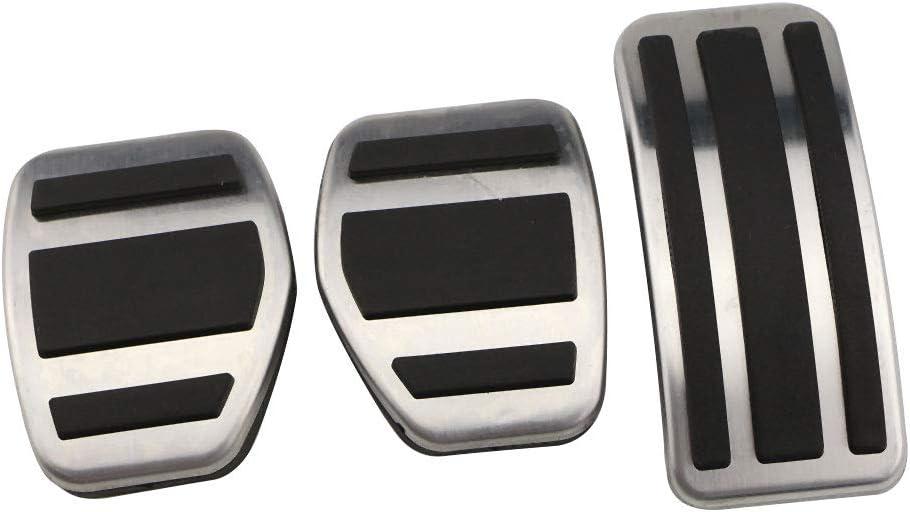 LUVCARPB Auto Pedal Bremse Kupplungspedale Abdeckung Zubeh/ör Fit f/ür Peugeot 2008 2015 2016 2017 2018