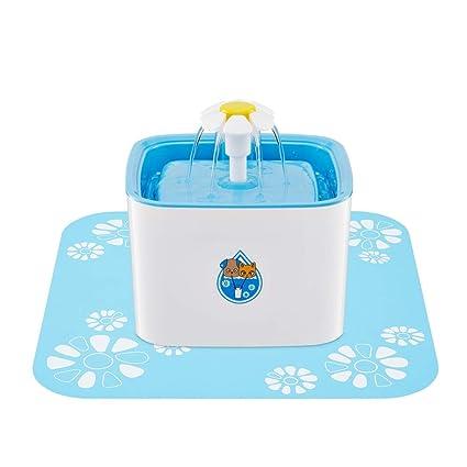 Zgsjbmh 1.6L dispensador de Agua para Mascotas Gato Cuadrado Perro Cuenca de Agua automático de