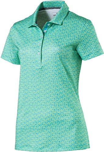 PUMA Golf Women's 2018 Polka Dot Polo, Aquarius, Small