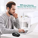 Bluetooth Mouse,【Dual-Mode Tech,Silent Design,15 Months Battery Life】Patuoxun 2.4G PC Laptop Computer Cordless Mice with USB Nano Receiver,DPI Adjustable, Home & Office & Travel for Apple Windows Mac