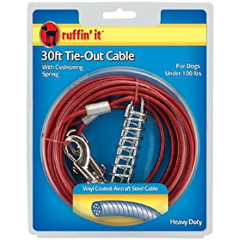 Amazon Com Vinyl Coated Dog Tie Out Cable Westminster