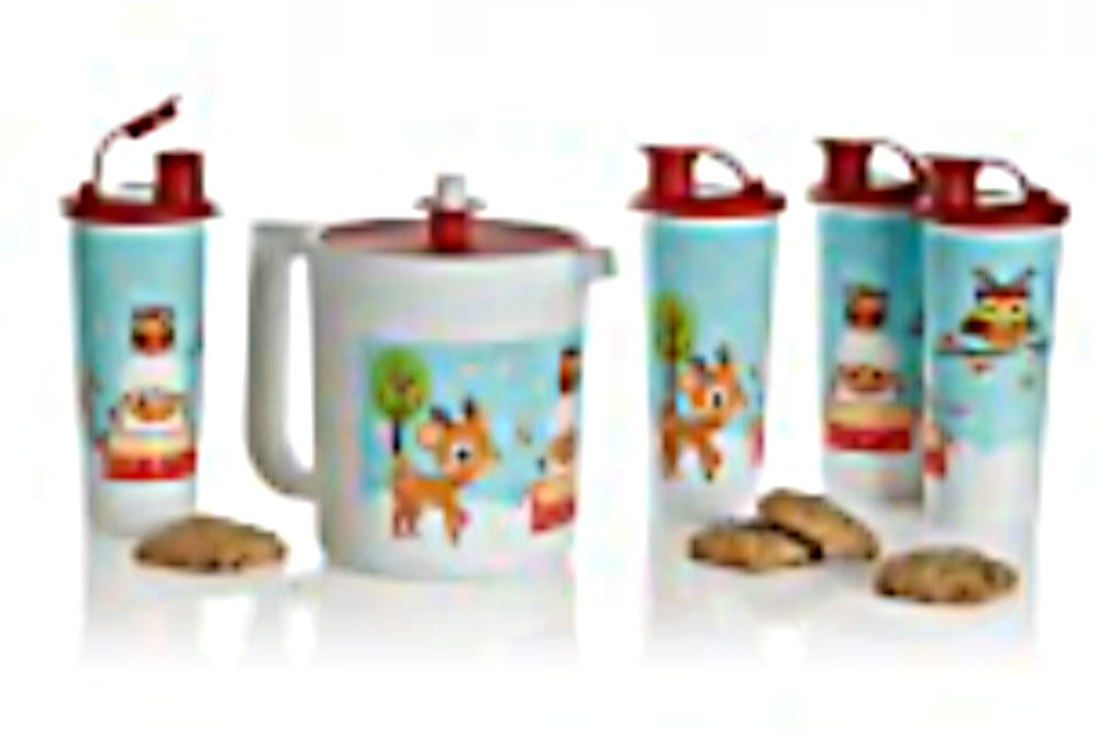Tupperware Holiday Pitcher and Tumbler Set