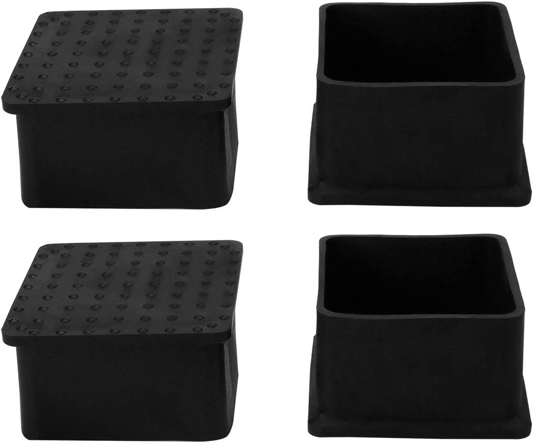 """uxcell PVC Table Leg Cap End Tip Feet Cover Furniture Glide Floor Protector 4pcs 2"""" x 2"""" (50x50mm) Inner Size, Reduce Noise Prevent Scratch"""