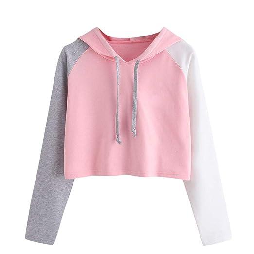 0ae61ff7e9c BOLUOYI Sweatshirts for Women Plus Size,Womens Casual Long Sleeve Hoodie  Sweatshirt Hooded Pullover Tops Blouse