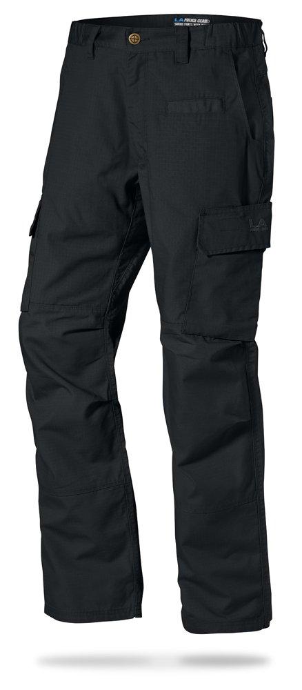 LA Police Gear Mens Urban Ops Tactical Cargo Pants - Elastic WB - YKK Zipper - Black - 32 x 30 by LA Police Gear