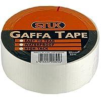 STUK G5050W Gaffa Tape, Wit, 50mm50m
