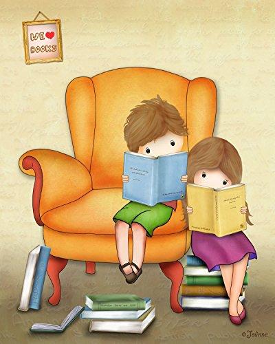 Brother Sister Bedroom Decor Kids Artwork Poster Children Reading Corner Library Unframed Print 8