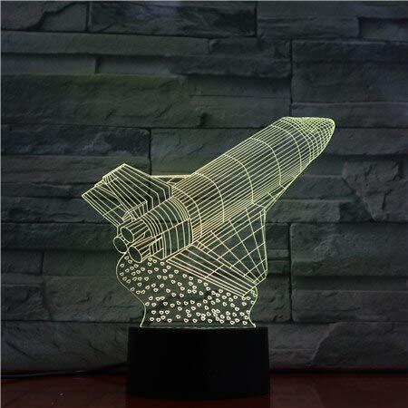Usb 3d Luz de Noche Led Transbordador Espacial Modelo ...