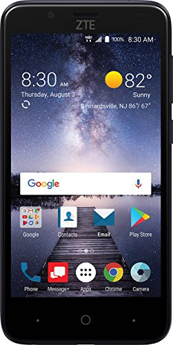 ZTE VZW-Z839PP Blade Vantage 5 16GB 1.1GHz 2GB Prepaid LTE Verizon Smartphone, Black, Carrier Locked to Verizon Prepaid (The Best Verizon Smartphone)