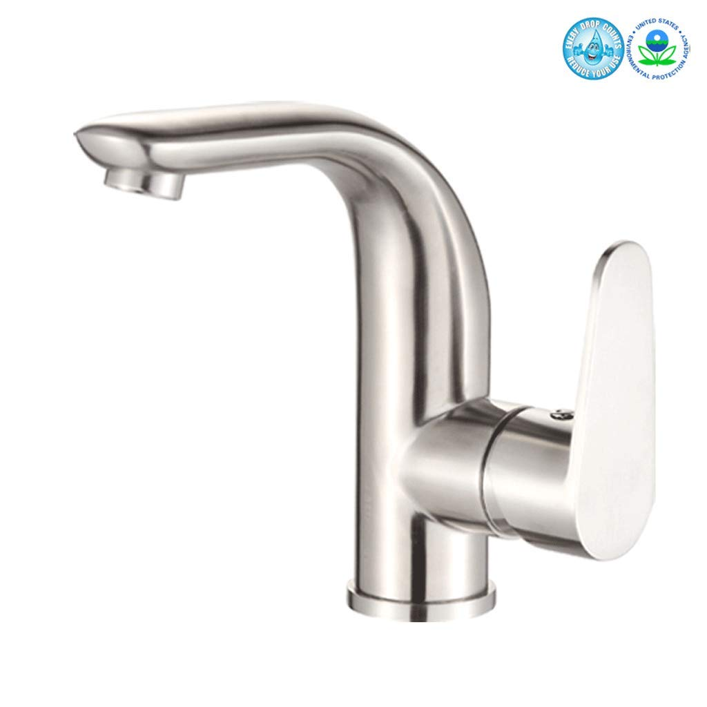 Tap Tap,Sink Faucet Modern Mixer Hot And Cold Single Handle Brushed Nickle Bathroom Taps