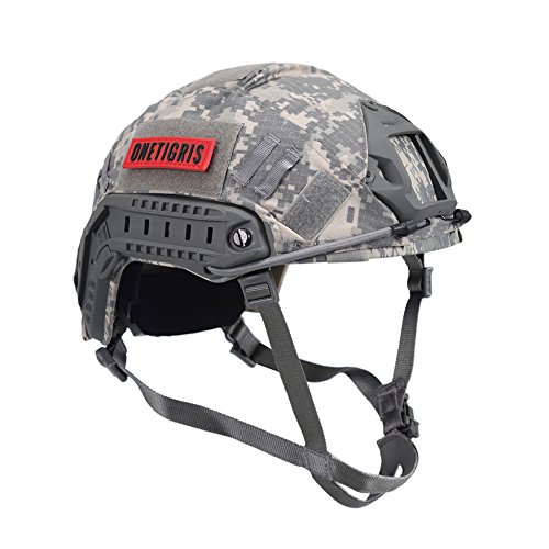 OneTigris PJ Type Tactical Fast Helmet for Airsoft Paintball with Helmet Cloth Cover (ACU)
