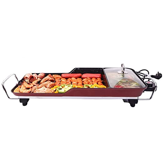 YECHUI Multi-función Hot Pot Barbecue One Pot Hornear Pan Barbecue ...