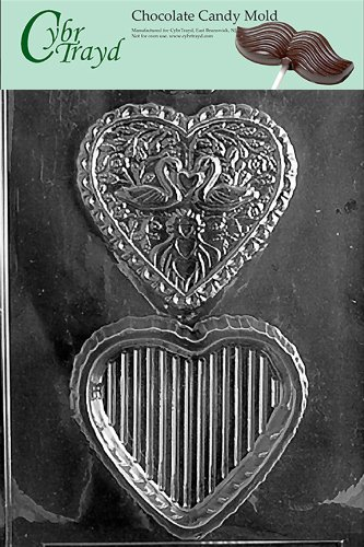 - Cybrtrayd W032 Swan Heart Pour Box Wedding Chocolate Candy Mold