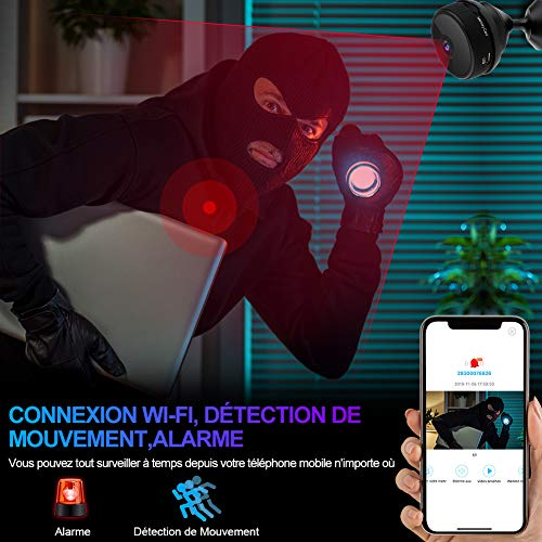Mini WiFi Spy Camera 1080P HD Wireless Hidden Camera with Night Vision and Motion Detection for Baby and Home Safety
