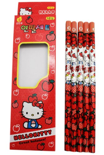 Hello Kitty 5pc Pencil Set -random 1set