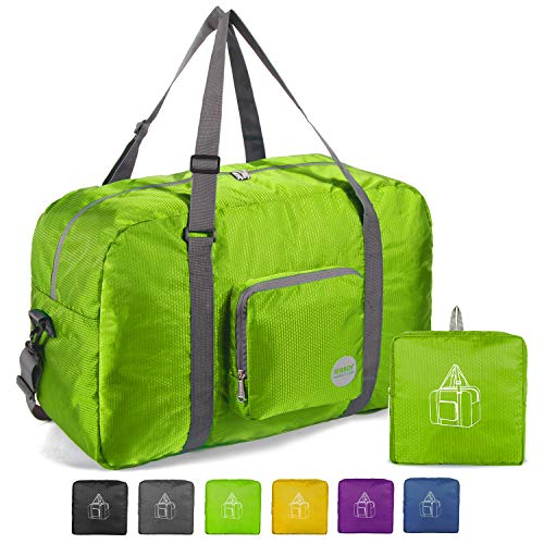 22″ Foldable Duffle Bag 50L for Travel Gym Sports Lightweight Luggage Duffel By WANDF