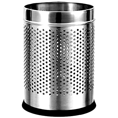Royal Sapphire Stainless Steel Perforated Open Dustbin (10l) (8x8x13) 3