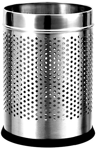 Royal Sapphire Stainless Steel Perforated Open Dustbin (10l) (8x8x13) 1