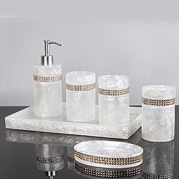 Hjky Accessoires de salle de bain Ensemble minimaliste de bain 5 ...