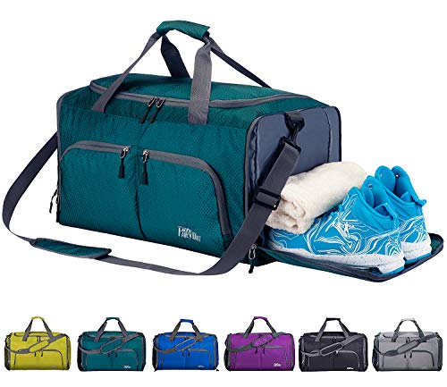 Bag with Shoes Compartment & Wet Pocket, Travel Duffel Bag for Men and Women ()
