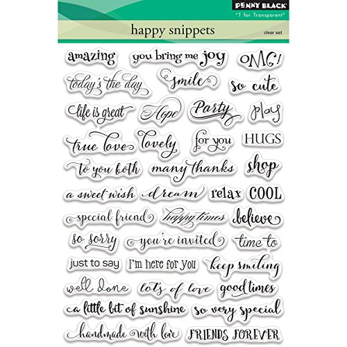 Penny Black Happy Snippets Clear Unmounted Rubber Stamp Set (30-358)