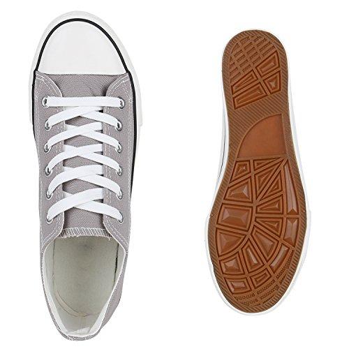 Stiefelparadies - Zapatillas de casa Mujer gris, blanco