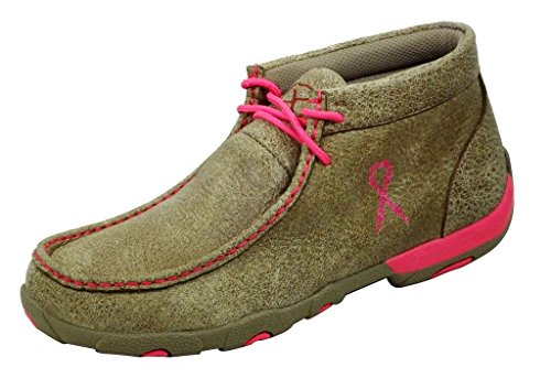 Twisted X Boots Women's WDM0012 Driving Moc,Bomber/Neon Pink,US 7 - Air Moc Penny
