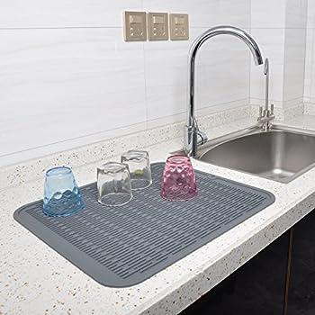 Amazon Com Premium Xl Silicone Dish Drying Mat By Echidna