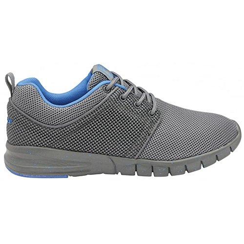 Gola Sport - Zapatillas de cordones modelo Active Angelo para niños (38 EU/Gris/Azul)