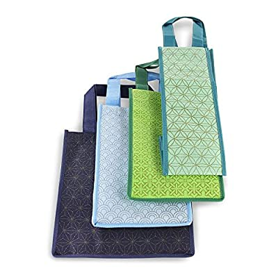 Reusable Wine Bottle Tote Bags - Set of 4