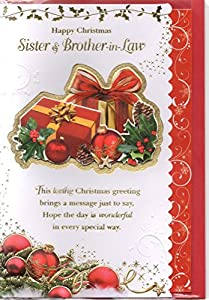 Sister and Brother-In-Law Christmas Card - To A Dear Sister and Brother-In-Law At Christmastime ...
